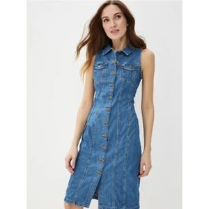 Levis Premium Aubrey Western Denim Dress